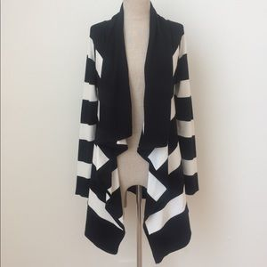 🆕 WHBM Stripe Long Open Cardigan